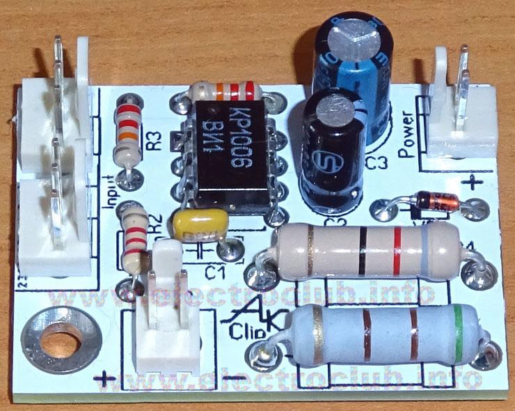 Клип-детектор. Печатная плата.