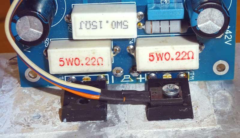 Установка измерительного транзистора