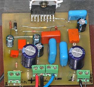 Самодельный hi-fi усилитель на микросхеме TDA7293 фото