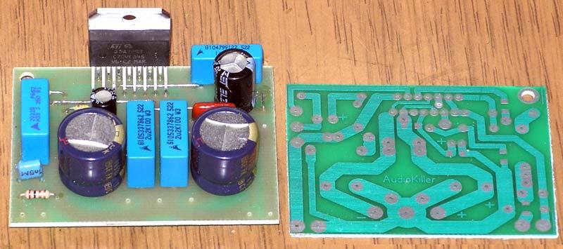 Малогабаритный Hi-Fi усилитель на TDA7293 / 7294 с Т-образной ООС