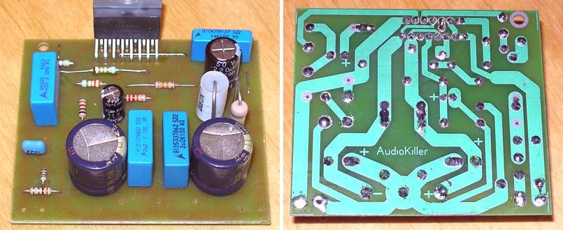 Hi-Fi инвертирующий усилитель на TDA7293 / 7294 с Т-образной ООС.