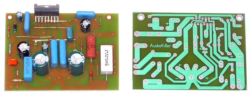 Hi-Fi усилитель с регулируемым выходным сопротивлением на микросхеме TDA7294 / TDA7293